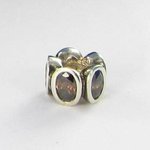 PANDORA Pandora Bead 790311bcz Oval Lights Brown Cubic Zirconia Sterling Silver