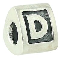 PANDORA Pandora Charm Bead - Sterling Silver Alpha D 790323d Retired Letter Ale 925
