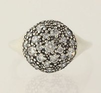 PANDORA Pandora Cosmic Stars Ring - Sterling Silver Clear Cz Cluster 190914cz