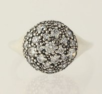 PANDORA Pandora Cosmic Stars Ring Sterling Silver Clear Cz Cluster 190914cz 7.75