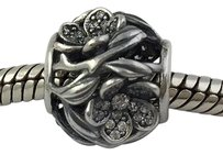 PANDORA Pandora Mystic Floral Clear Sterling Silver Bead Charm 791419cz
