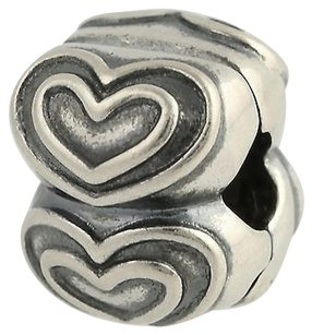 PANDORA Pandora Youre In My Heart Charm - Sterling Silver Snap Lock 790959