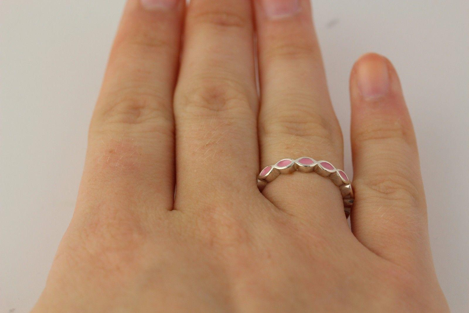 cb1f9e26e ... low price pandora pandora pink enamel ring sterling silver band womens  stackable 190884en24. 874a7 a8513