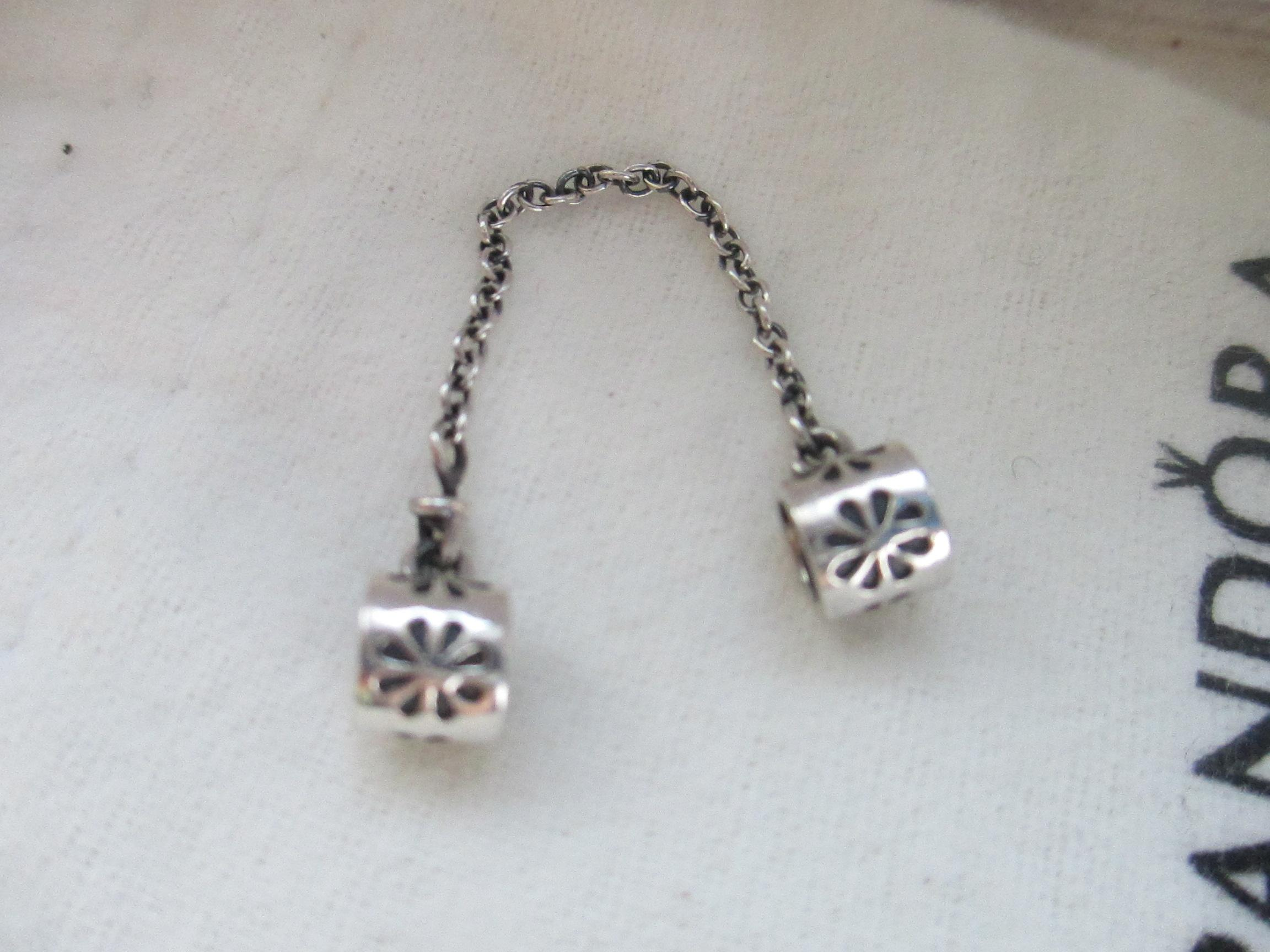 d9c363b18 ... reduced pandora authentic pandora sterling silver daisy flower safety  chain charm 790385. 12345 85c9b 8fd4e