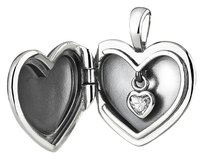 PANDORA Sterling Silver Heart Locket Pendant With Heart Charm Inside
