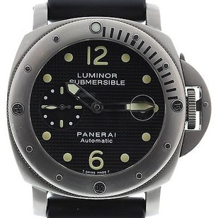 Panerai Mens Panerai Luminor Submersible Titanium Watch Pam106