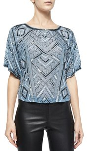 Parker Beaded Sequin Post Top Blue