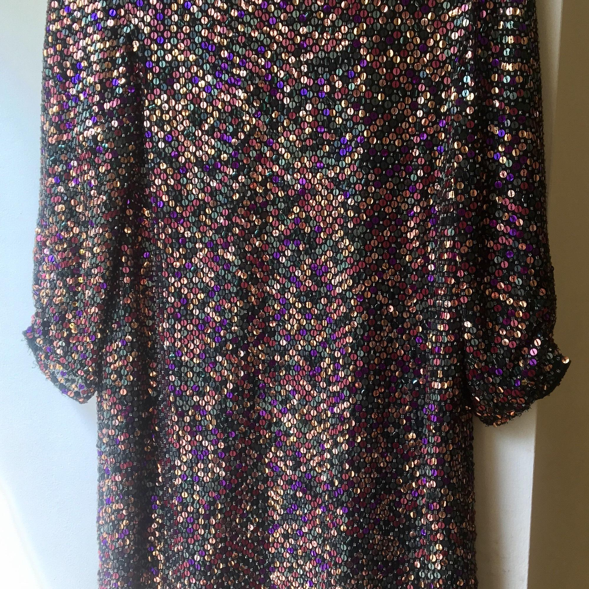 parker multiple sequin colors above knee cocktail dress size 4 s 17268475 2 0