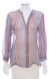 Parker Silk Flowy Metallic Top Multi