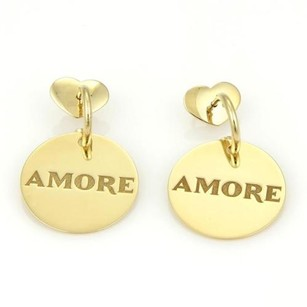 Pasquale Bruni Pasquale Bruni Amore 18k Gold Circlula Dangle Drop Earrings