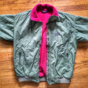 Patagonia pink and olive green Jacket