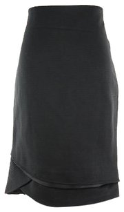Patrizia Pepe 4g0023ag69 Straight Pencil Womens 42 It Skirt Black
