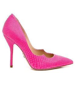 Paul Andrew Rose Python Pink Pumps