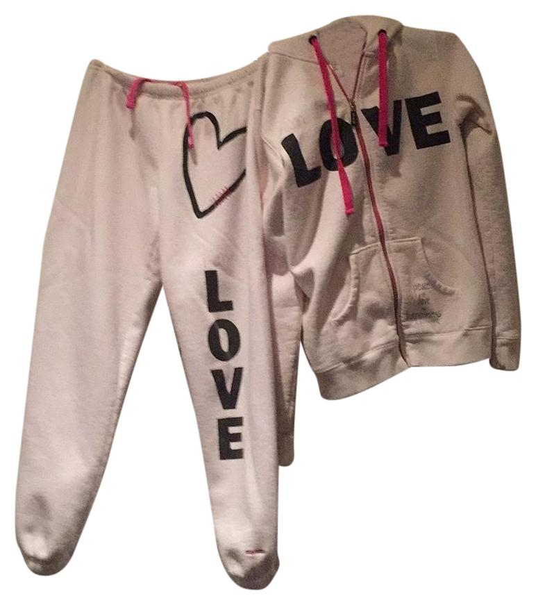 Peace Love World Hoodie Set Sweatpants Jogging Jacket
