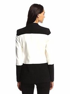 Peace of Cloth Peace Of Cloth Ivory Black Colrblock Blazer Jacket 220481a-e