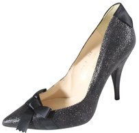 Pedro Garcia Black Bow Glitter Olm Pumps