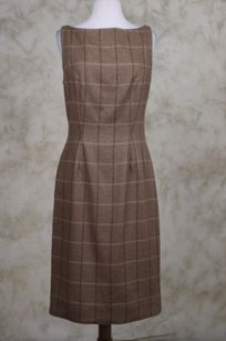 Peggy Jennings Womens Brown Dress