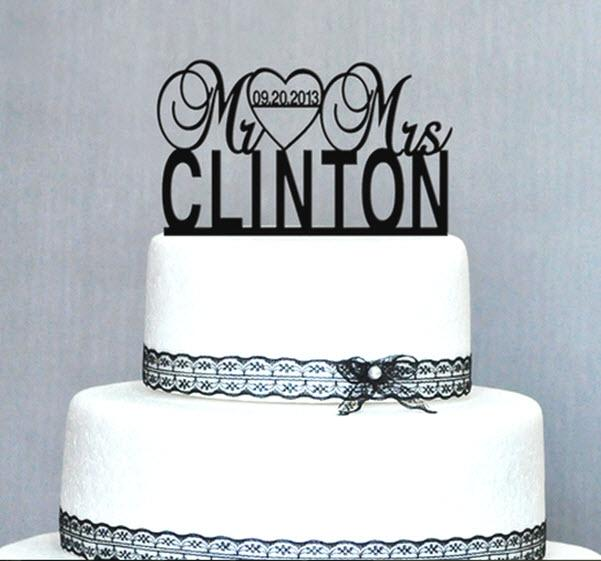 custom last name wedding cake toppers personalized wedding cake topper quot mr amp mrs last name 13213