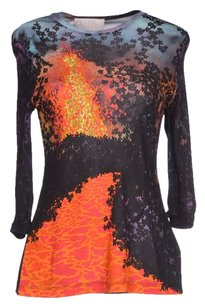 Peter Pilotto Printed Longsleeve T Shirt Black/Orange/Purple/Navy