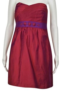 Phoebe Couture Womens Metallic Strapless Above Knee Sheath Dress