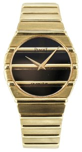 Piaget Men's Polo Quartz Watch in 18k Solid Yellow Gold with Black Dial 791C701 WTPY