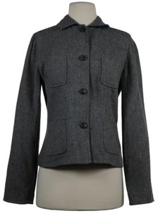 Piazza Sempione Piazza Sempione Womens Blue Gray Reversible Blazer 4210 Wool Jacket