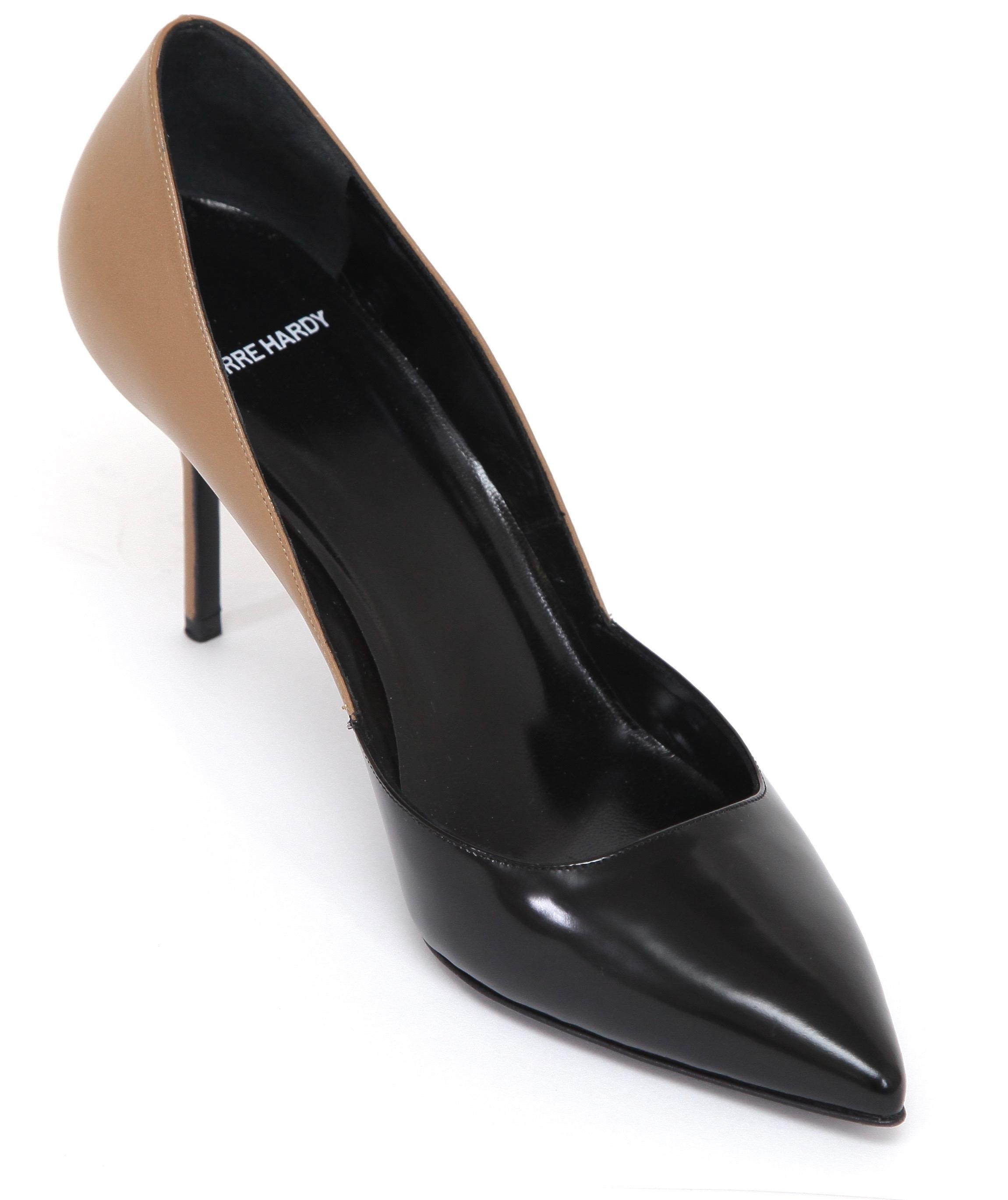 Pierre Hardy Leather Pointed-Toe Pumps