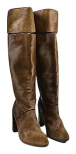 Pierre Hardy Pony Hair Brown Boots