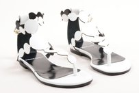 Pierre Hardy Leather White Sandals