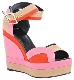 Pierre Hardy Pink, Orange, Beige Wedges