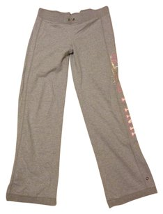 PINK Preppy Comfortable Casual Athletic Pants GRAY PINK White Gold