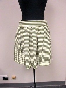 Pins and Needles Green White Skirt Multi-Color