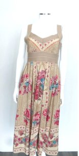 Plenty by Tracy Reese short dress Beige with Multi-color Floral prin on Tradesy