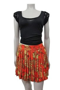 Plenty by Tracy Reese Pleated Skirt Orange Mustard
