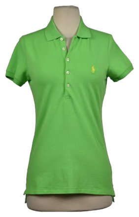 43fc89d77f Polo Ralph Lauren Womens Green Shirt Casual Wtw Short Sleeve Cotton Top  low-cost