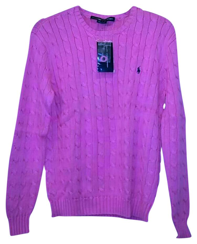 Added to Shopping Bag. Polo Ralph Lauren Cable Knit Cotton Breast Cancer  Sweater