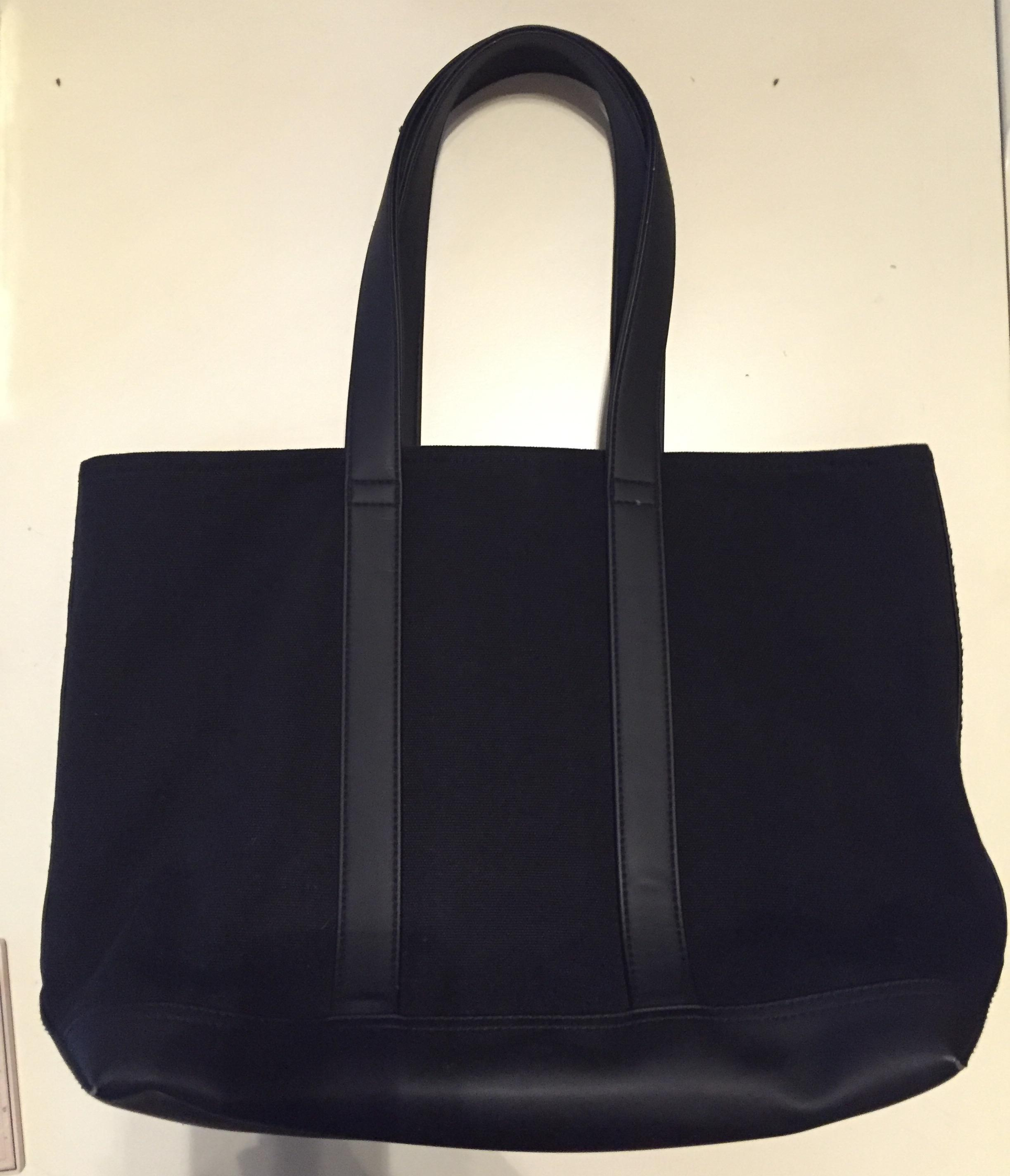 Ralph Lauren Polo Leather Canvas Tote Red