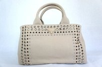 Prada B26420 Canapa Canvas Tote in Beige