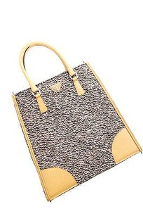 Prada Tan Wool Stuoia Tote in Brown