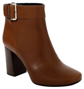 Prada It159f Buckle Leather Brown Boots