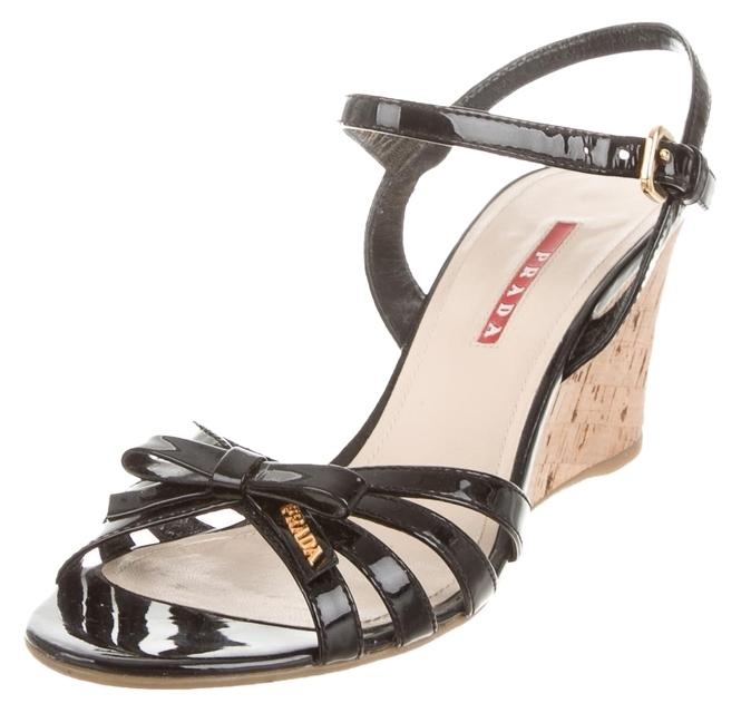 clearance popular quality free shipping outlet Prada Sport Patent Leather Ankle-Strap Wedges cheap sale tumblr 2014 cheap price buy cheap finishline NBT8A5