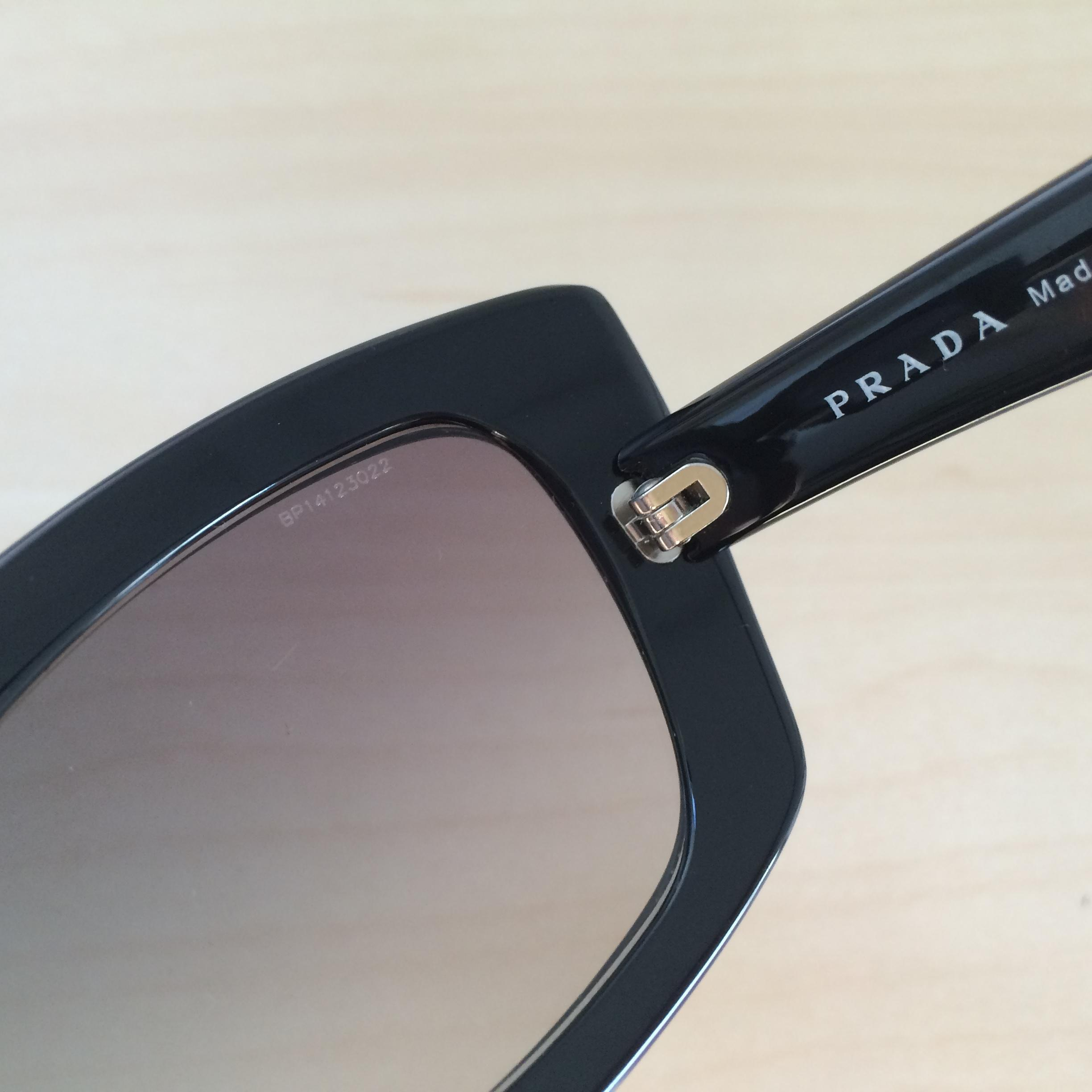 9848be7754e ... ireland prada prada cat eye spr 19m sunglasses black w violet gradient  lens. 12345678 d7cd7