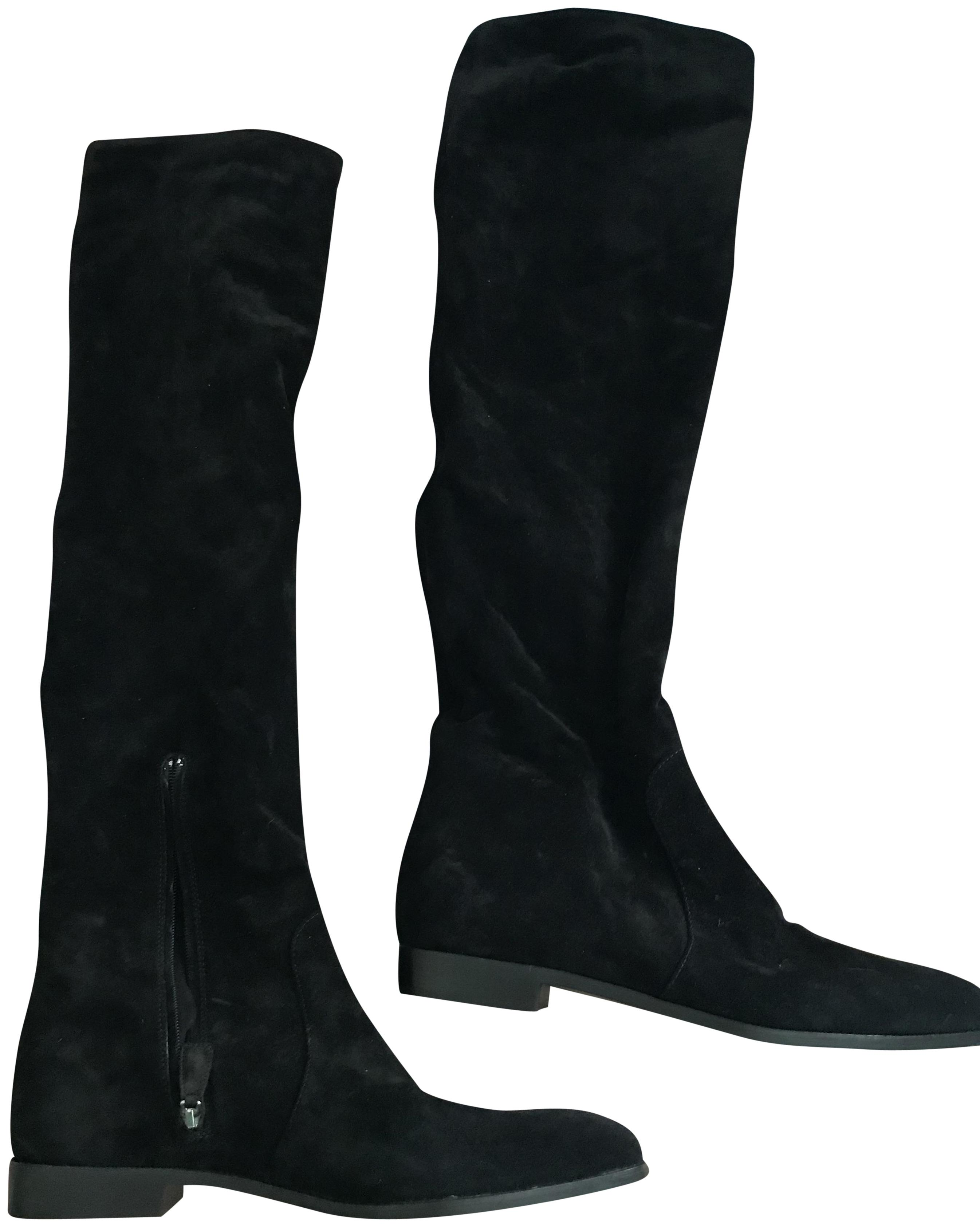 Prada Black Knee High Boots/Booties Size US 7.5 Regular (M, B)