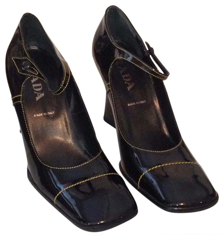 Prada Mary Jane Square-Toe Pumps buy cheap how much low price fee shipping cheap price sale outlet sale pay with visa mU8f6oqv8