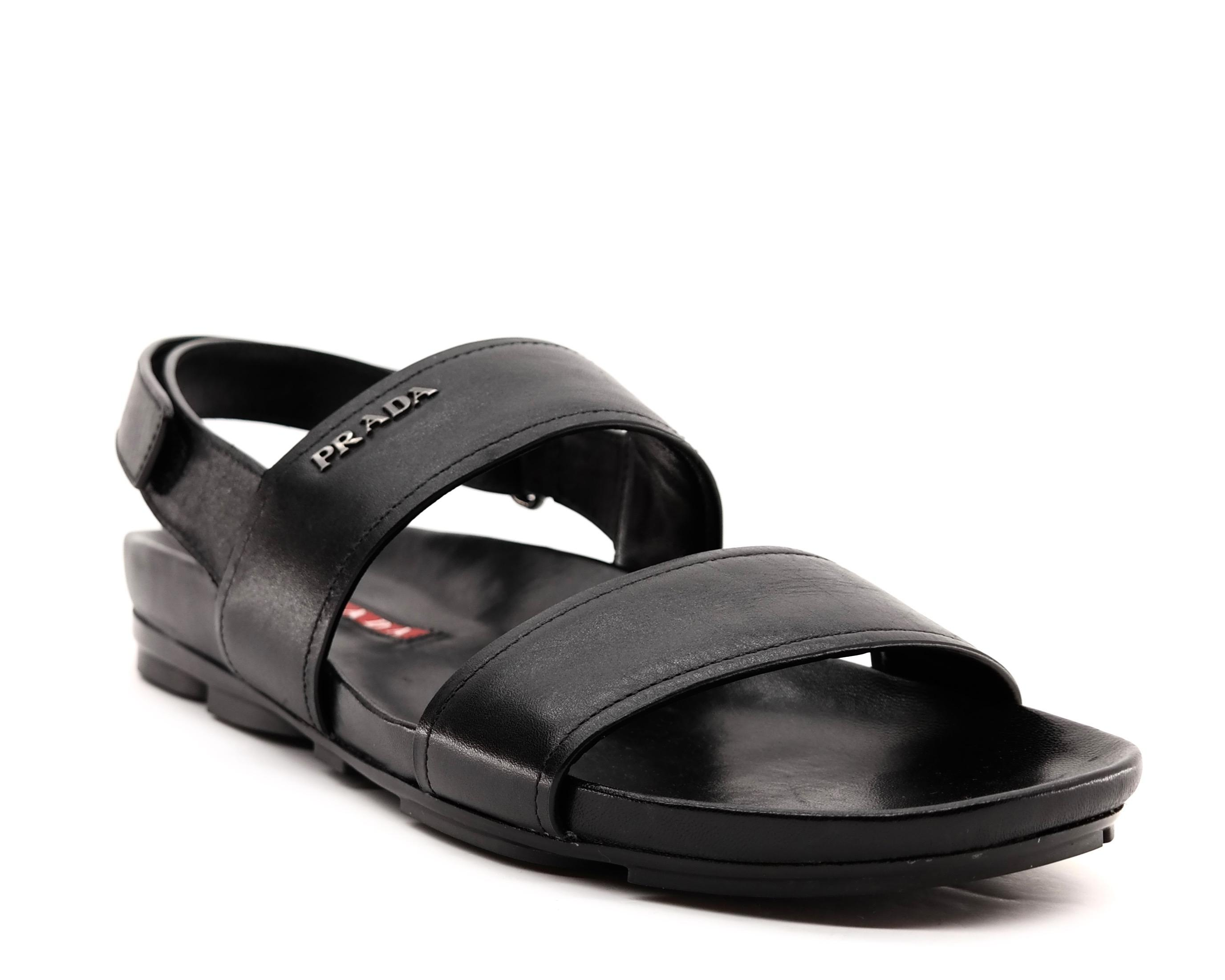 3fe1977e41b Prada Black Men  039 s Sandals Sandals Sandals Size US 9 Regular (M ...