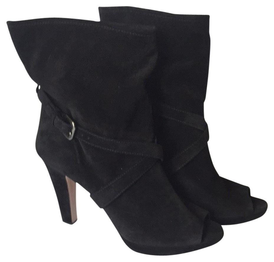 Prada Black Peep-toe Buckle Boots/Booties Size US 12 Regular (M, B)
