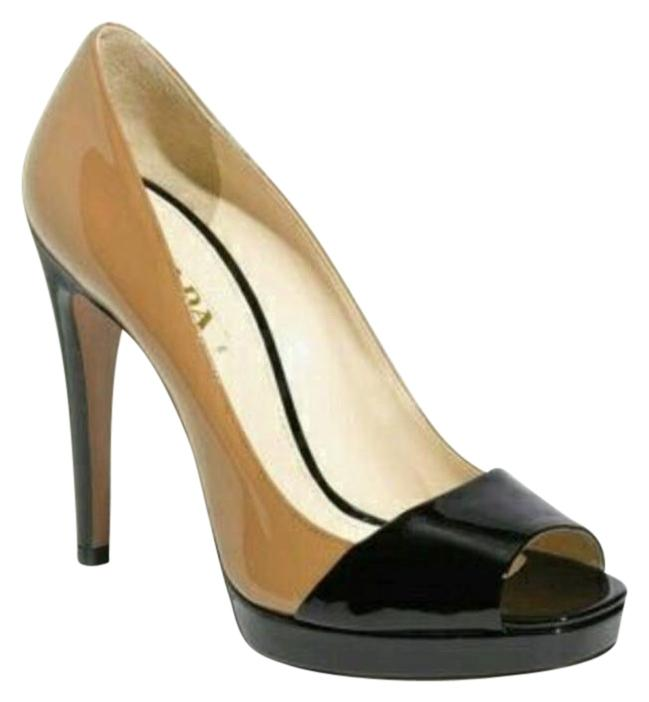 Prada Bicolor Patent Leather Pumps sale extremely ZiJNg0