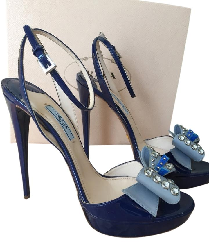low cost sale online Prada Patent Leather Slingback Sandals w/ Tags free shipping really oaPqvZ4au