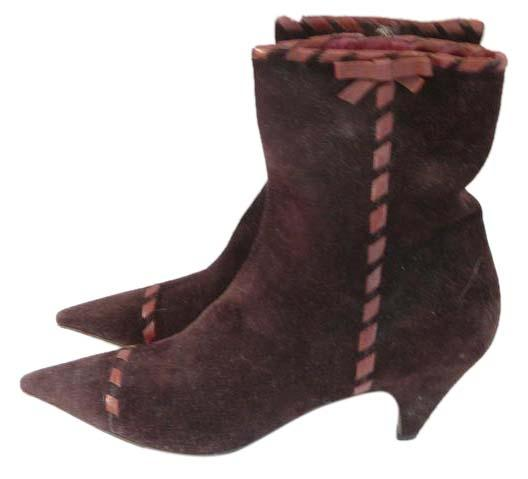 Prada Brown 40 Suede Ankle Boots/Booties Size US 10 Regular (M, B)