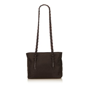 Prada Brown Fabric Nylon 6lprsh018 Shoulder Bag